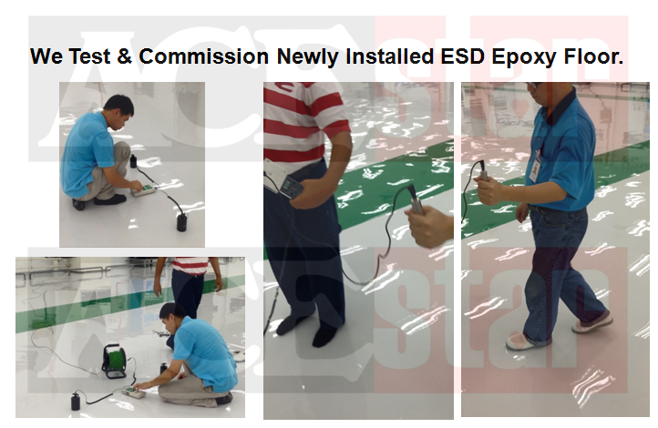Testing of ESD Epoxy Floor